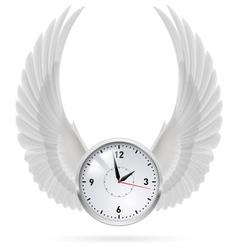 White clock white wings vector