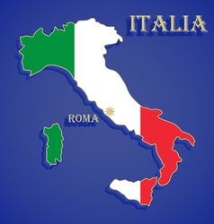 Map flag of italy vector