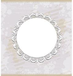 white round frame vector image