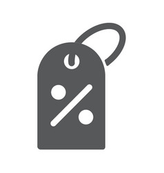 percent off sale tag icon on vector image