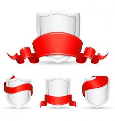banners and shield vector image