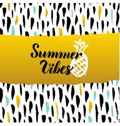 Summer vibes hand drawn design vector