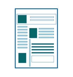 Website internet page vector