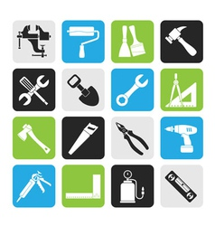 Silhouette building and construction work tool vector