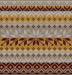 Scandinavian style seamless knitted pattern colors vector