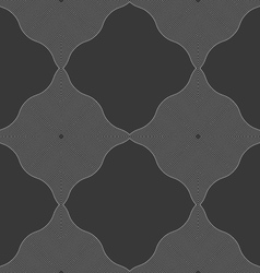 Monochrome pattern with black wavy guilloche vector