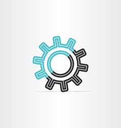 Gear icon logotype symbol design vector