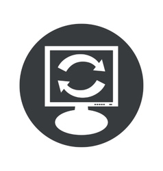 Round exchange monitor icon vector