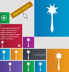 Mace icon sign buttons modern interface website vector