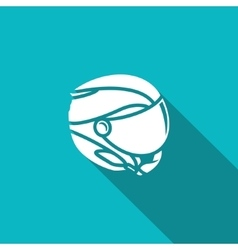 Skiing helmet icon vector