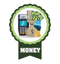 Money icons design vector image