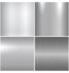 Metal polished textures vector