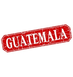 Guatemala red square grunge retro style sign vector