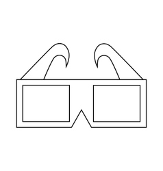 3d cinema glasses icon outline style vector
