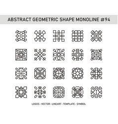 Abstract geometric shape monoline 94 vector