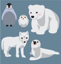 Arctic babies vector