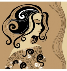 artistic woman vector image vector image