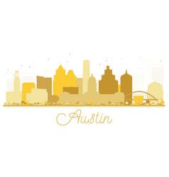 austin texas usa city skyline golden silhouette vector image