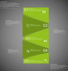 Bar motif randomly divided to five green parts on vector image