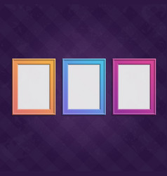 colored frames set vector image vector image