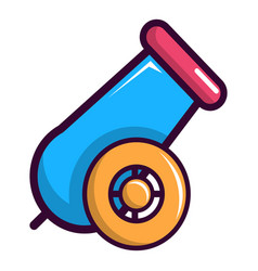 colorful circus cannon icon cartoon style vector image