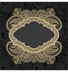 dark ornate floral background vector image