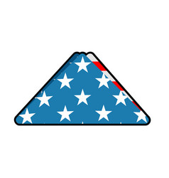 Folded us flag symbol of mourning national symbol vector