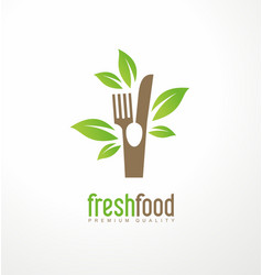 Fresh food logo design vector