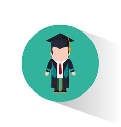 graduate student tie cap standing vector image