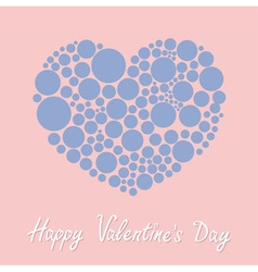 Heart made from many round dots Happy Valentines vector image