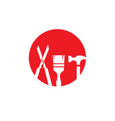 mechanic service logo idea repair creative symbol vector image