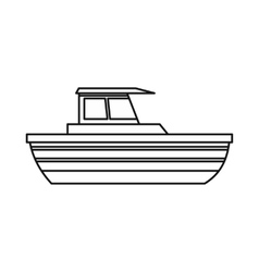 Motor boat icon outline style vector image