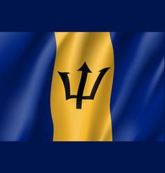 Realistic barbados flag icon vector