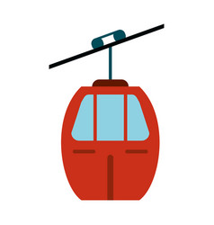 Red cable car transport vector