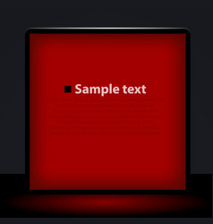 red light box vector image vector image