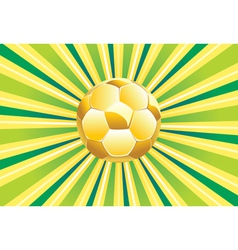 Soccer Ball on Green Background2 vector image vector image