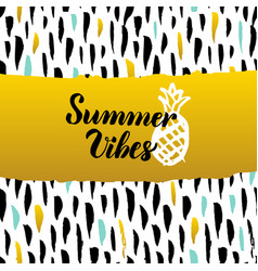 Summer vibes hand drawn design vector