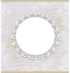 white round frame vector image vector image