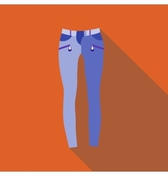 Woman jeans icon flat style vector