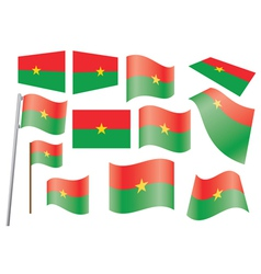 flag of Burkina Faso vector image