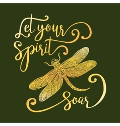 Let your spirit soar vector