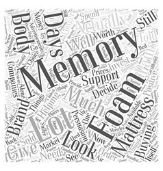 Helping you decide about memory foam mattress word vector
