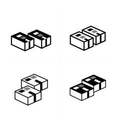 Box icons set 4 design vector