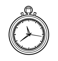 Monochrome contour with black stopwatch vector