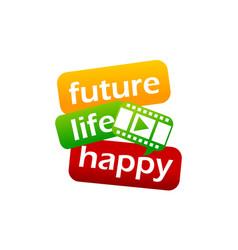 Success life coaching education video vector