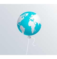Modern earth ballon vector