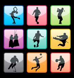 Sports buttons set02 vector
