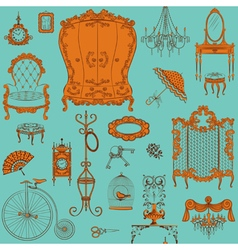 Furniture pattern vector image
