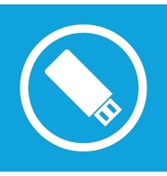 Usb stick sign icon vector