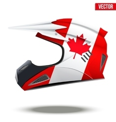 Canada flag on motorcycle helmets vector